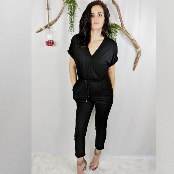 7a82328be385 Felicity & Coco Pants | Felicity Coco Rocco Black Jersey Jumpsuit ...